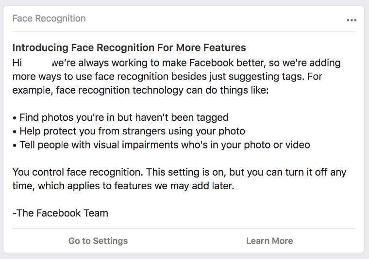 Facebook facial recognition Pakistan