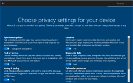 Windows 10 new privacy settings single screen