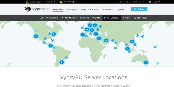 VyprVPN Review Server